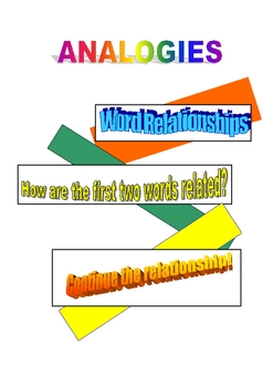 Analogies - Continuing the Relationship