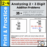 Analyzing 2 & 3 Digit Addition Problems
