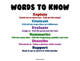 Anchor Charts - Vocabulary Words for Walls (Higher Level T
