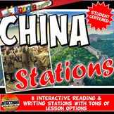 Ancient China Stations with Key Questions Graphic Organize