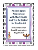 Ancient Egypt Assessment with Study Guide & Reflection