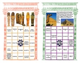 Ancient Egyptian Review in a Bingo Game Format