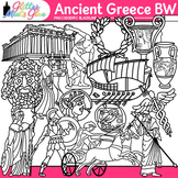 Ancient Greece Clip Art (Clipart) [LINE ART]