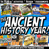 Ancient History Year in Curriculum Activity & Note Bundle