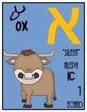 Ancient Paleo Hebrew & Modern Hebrew -23 aleph bet (alphab