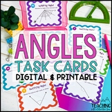 Angles Task Cards { Identify , Draw , Measure & More }