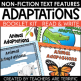 Animal Adaptations- Creating a Non-Fiction Text Features Booklet