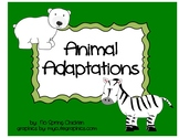 Animal Adaptations - Cut and Paste, Activity, & Quiz