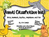 Animal Classifications Unit