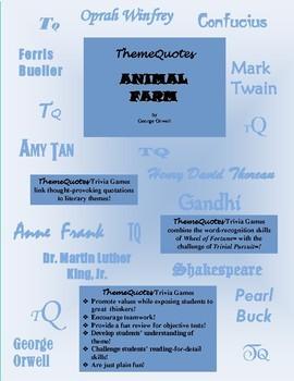 Animal Farm: 240 TRIVIA QUESTION GAME--Classroom fun!