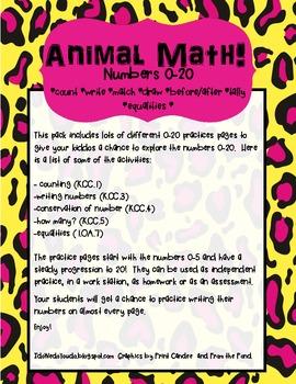 Animal Numbers Pack 0-20