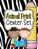 Animal Print Center Set