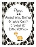 Jungle (or Safari) Theme Schedule Cards