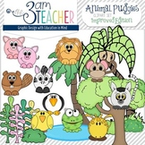 Animal Pudgy's Clip Art Collection (48 graphics in B/W & Color)