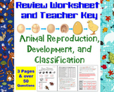Animal Reproduction, Development, and Classification Revie