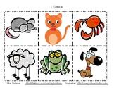 Animal Syllable Cards