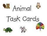 Animal Task Cards