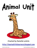 Animal Unit: Exploring body parts, functions, habitats and food