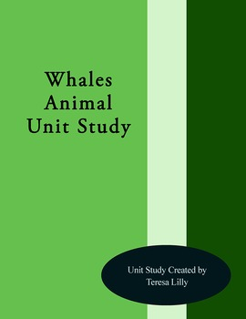 Whales Animal Unit Study