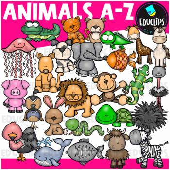 Animals A-Z Clip Art Bundle