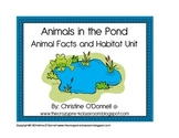 Animals in the Pond: facts, habitat, minibook, center+