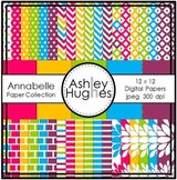 Annabelle Paper Collection {12x12 Digital Papers for Commerc