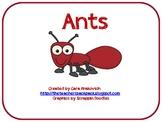 Ants- Literacy Activities