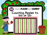 Apple Counting to 100 and 120- more FLASH less CARDS