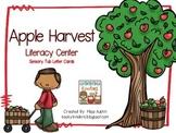 Apple Harvest Literacy Center Sensory Tub Letter Cards