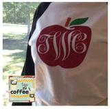 Apple Monogram Baseball Shirt {Adult XL}
