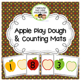 Apple Playdough Math Mats for Preschool and Kindergarten