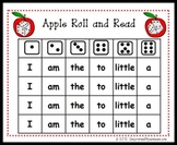 Apple Roll and Read: Sight Word Center Game