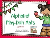 Apple Theme Alphabet Play-Doh Mats