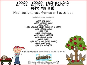 Apples, Apples Everywhere! (math and literacy unit)