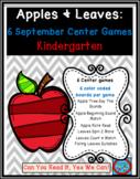Apples and Leaves: 6 Kindergarten Common Core Center Games Kit