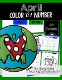 April Color By Number for 4th Grade Math