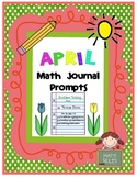 April Math Journal Prompts