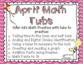 April Math Tubs
