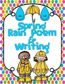 Spring Rain Poem and Writing Freebie