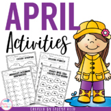 April Printables for Morning Work Common Core