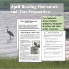 April Reading Homework and Test Preparation