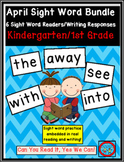 April Sight Word Bundle: 6 Emergent Readers with Writing R
