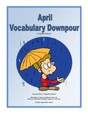 April Vocabulary Downpour