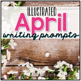 48 April Writing Prompts Cards - 48 April Journal Prompts Cards