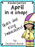 April in a Snap:  No Prep Printables for Math and Literacy Skills