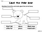 Arctic Animals Label Me Sheets