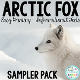 Arctic Fox Informational Text Sampler {Easy Printing}