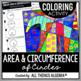 Area and Circumference of Circles: Pi Day Coloring Activity