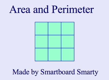 Area and Perimeter Smartboard Math Lesson