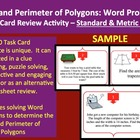 Area and Perimeter of Polygons Word Problems Task Card REV